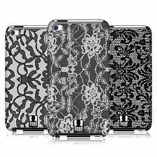 HEAD CASE DESIGNS BLACK LACE HARD BACK CASE FOR APPLE iPOD TOUCH 4G 4TH GEN