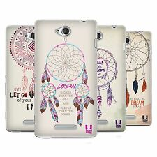 HEAD CASE DREAMCATCHERS SERIES 2 SILICONE GEL CASE FOR SONY XPERIA C C2305