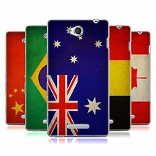 HEAD CASE VINTAGE FLAGS SET 1 SILICONE GEL CASE FOR SONY XPERIA C C2305