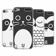 HEAD CASE CARTOON ANIMAL FACES SERIES 1 GEL CASE FOR APPLE iPOD TOUCH 5G 5TH GEN