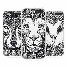 HEAD CASE DOODLE ANIMAL FACES SILICONE GEL CASE FOR APPLE iPOD TOUCH 5G 5TH GEN