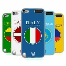 HEAD CASE FLAG PATCHES SET 2 SILICONE GEL CASE FOR APPLE iPOD TOUCH 5G 5TH GEN