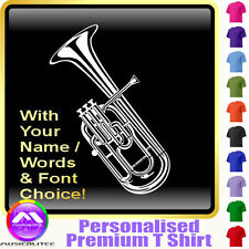 Tenor Horn Picture With Your Words - Music T Shirt 5yrs - 6XL by MusicaliTee