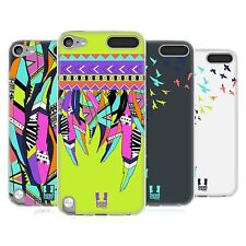 HEAD CASE NEON FEATHERS SILICONE GEL CASE FOR APPLE iPOD TOUCH 5G 5TH GEN