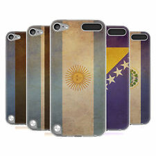 HEAD CASE VINTAGE FLAGS SET 2 SILICONE GEL CASE FOR APPLE iPOD TOUCH 5G 5TH GEN