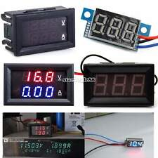 LED Panel Meter DC 3V To 30V DC 0-100V 10A Dual Digital Voltmeter Ammeter SA88