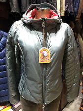 PARAJUMPERS ITALY DAISY WOMEN'S LIGHT DOWN JACKET 100% GENUINE SILVER STEEL BLUE