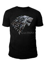 Game of Thrones - House Stark Chrom Logo Herren T-Shirt (Schwarz) (S-L)