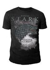 Game of Thrones - House Stark Logo Herren T-Shirt (Schwarz) (S-L)
