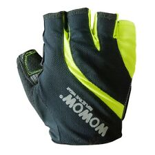 Wowow Half Finger Hi-Viz Cycling Gloves Fingerless Mitts