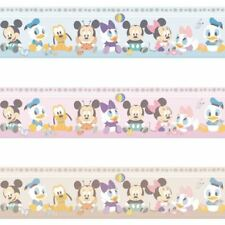 NEW OFFICIAL DISNEY BABY MICKEY MINNIE MOUSE CHILDRENS NURSERY WALLPAPER BORDER