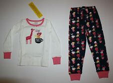 NEW Gymboree 2 Piece PJs Giraffe Mouse Tea Party Gymmies PJs Size 3 4 5 6 7 8