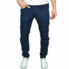 Eto Mens Designer Branded Regular Fit Tapered Leg Navy Jeans, BNWT