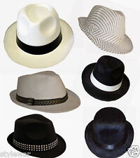 UNISEX ADULT GANGSTER HAT 20'S FANCY DRESS TRILBY AL CAPONE FANCY COSTUME HATS