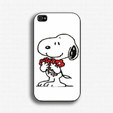 case for Snoopy Flowers Iphone 4/5/5c/6/6+ Samsung Galaxy S3/4/5 Mini HTC Case