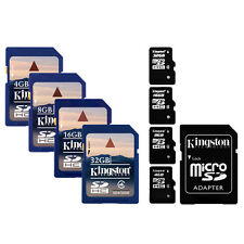 Kingston SDHC / Micro SDHC / SDXC Speicher Karte 4 8 16 32 64 GB Handy Tablet PC