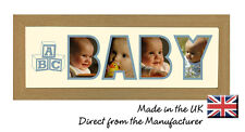 Baby ABC Photo Picture Frame Name Frame Personalised Gift Photos in a Word