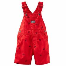 New OshKosh Red with Navy Anchor Short Overalls NWT 5t 18m 24m Summer Shorts