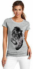 Girls Round Neck T-shirt (Tiger) - Girls Graphic Tshirt
