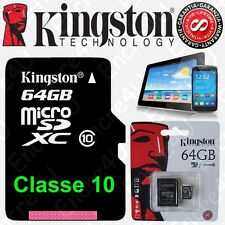 Carte Mémoire KINGSTON 64 Gb Go Micro SDXC ( Existe aussi en 4 8 16 ou 32 Giga )