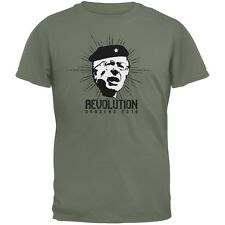 Election 2016 Bernie Sanders Che Guevara Parody Military Green Adult T-Shirt