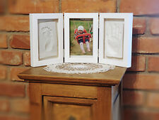 Christening, Baby Shower Gift. Photo Frame Foot & Hand Print Plaster Casting Kit