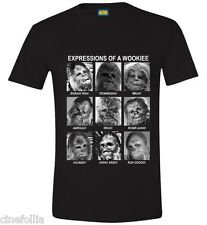 T-Shirt Star Wars Chewbacca Wookiee expressions maglia Uomo ufficiale