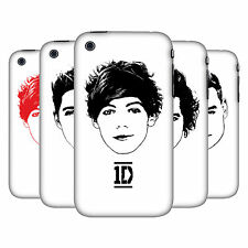 OFFICIAL ONE DIRECTION 1D GRAPHIC FACES HARD BACK CASE FOR APPLE iPHONE 3GS