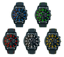 Casual Quartz Mens Military Watches Stainless Steel Analog Sport Wrist Watch