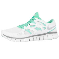 NIKE FREE RUN 2 EXT WOMEN SCHUHE WHITE GREY TEAL 536746-103 DAMEN LAUFSCHUHE 5.0