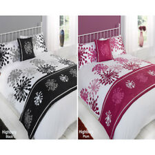 White Highbury Floral 5 Piece Bed in Bag Duvet Quilt Cover Complete Bedding Set