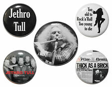 """1"""" (25mm) Jethro Tull Button Badge Pins OR Magnets - Gift & Music - High Quality"""