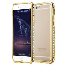 "Apple Iphone 6 ❆ 4.7"" Golden Diamond Bumper Case ❆ Free Screen Guard"