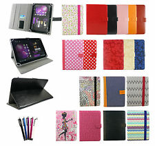 Universal Wallet Case Cover with Stand fits 9.7 to 10.1 Inch Tablet & Stylus