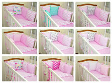 New 12 pcs Bedding Set for COT or COTBED/ 6 pillows bumper/ hangings/ pink