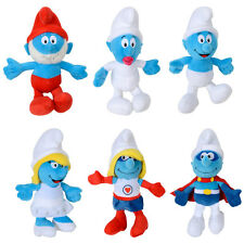 "36cm/14"" Plush Smurf Soft Toy Characters Smurf Papa Smurf Smurfette Baby Smurf"