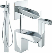 CROSSWATER LOVE ME BATHROOM TAPS CHROME BASIN SINK MIXER BATH SHOWER FILLER NEW