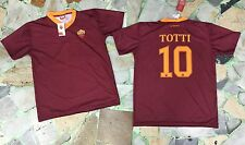 1 MAGLIA TOTTI AS ROMA UFFICIALE OFFICIAL 2016/17 JERSEY NEW HOME T-SHIRT PUPONE