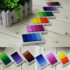 DIY Oil Based Ink Pads Craft Rubber Stamps Paper Fabric Colors Gradient Sale
