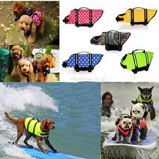 Dog Life Jacket Pet Safety Float Vest Swimming Preserver Hound Saver Multi-size