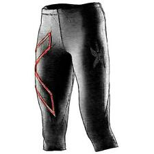 2XU Performance Compression 3/4 Tights - Women's Running Clothing (BK/Scarlet)