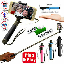 New Strong Selfie Stick Monopod No Bluetooth Remote Needed For iPhone & Samsung