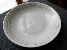 PORCELAINE VIERZON MARC LARCHEVEQUE PLAT DE SERVICE CREUX  DECOR FILET DORE