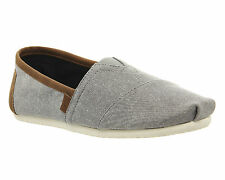 Mens Toms Classic Slip Ons FROST GREY CHAMBRAY EXCLUSIVE Casual Shoes