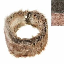 Lady Winter Natural Double Side faux ear Warmer fur Hat Headband Elastic at Rear