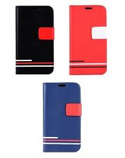 Lines Flip Wallet PU Leather Stand Case Cover for Blackberry Z3
