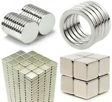 VARIETY of Neodymium Magnets 2mm Thick - Small & Large Round Disc - MEGA STRONG