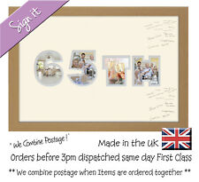 65th Birthday Signing Signature Guest Personalised Photo Frame Photos in a Word