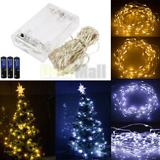 20/30/50/100LED Battery Powered Copper Wire Christmas Outdoor String Fairy Light