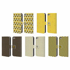 HEAD CASE DESIGNS BUSY BEE PATTERNS LEATHER BOOK CASE FOR APPLE iPOD TOUCH